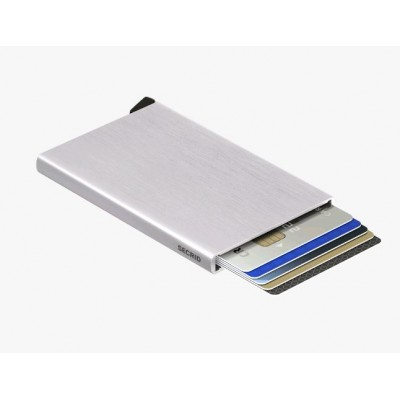PORTE-CARTES CARDPROTECTOR BRUSHED SILVER