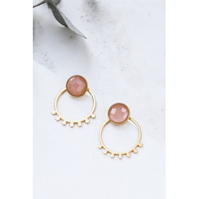 BOUCLES D'OREILLES MIYA EAR JACKETS OR + ROSE