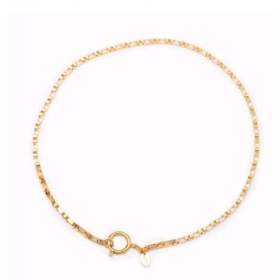 COLLIER MAILLE ALABASTA 42CM FERMOIR ROND GOLD