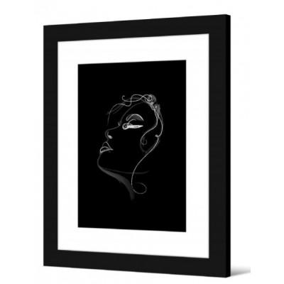 IMAGE ENCADREE NOIR 40 x 50 cm