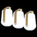BALAD LAMPE LED H 12 SET DE 3 - BAMBOU