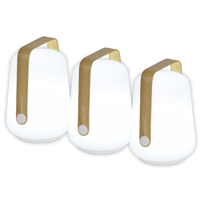 BALAD LAMPE LED H 12 SET DE 3 - BAMBOU