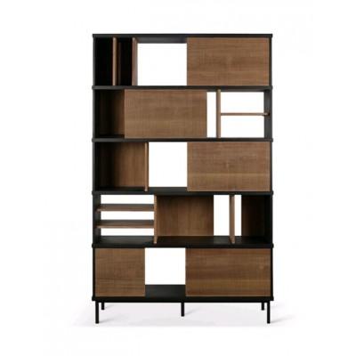 Teak Oscar rack - 5 sliding doors