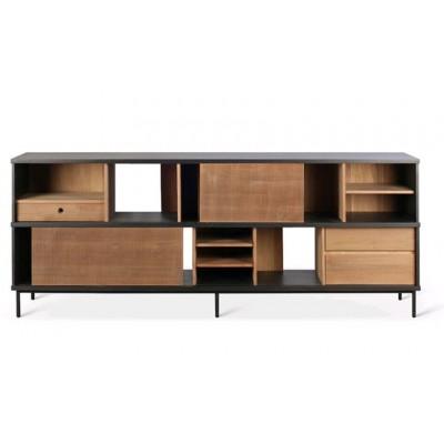 Teak Oscar sideboard - 2 sliding doors - 3 drawers