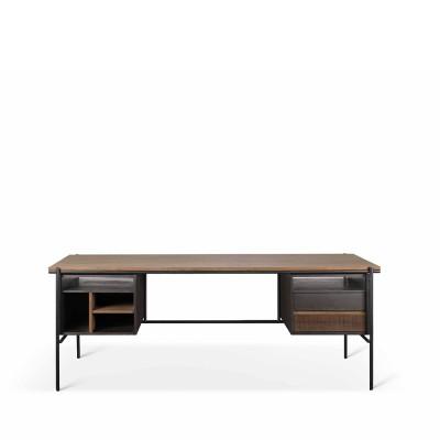 Teak Oscar desk - 2 drawers