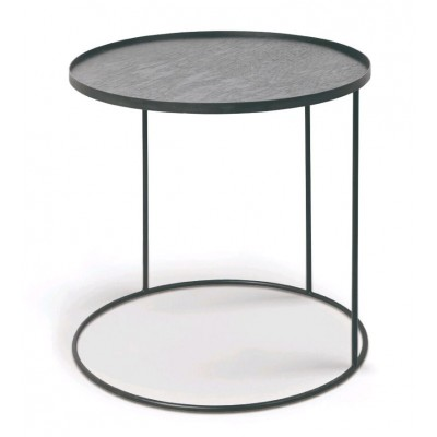 Round tray side table - L (tray not included)