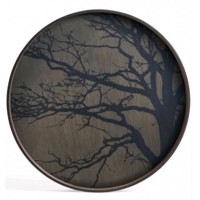 BLACK TREE TRAY D.61CM DRIFWOOD