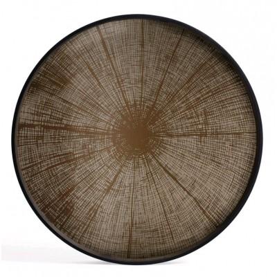 Bronze Slice mirror tray-not aged