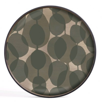 CONNECTED DOTS GLASS-TRAY D.48 CM