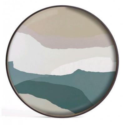 SLATE WABI SABI - GLASS TRAY 61X61X5CM