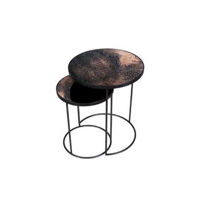 Bronze Copper Nesting side table - set of 2