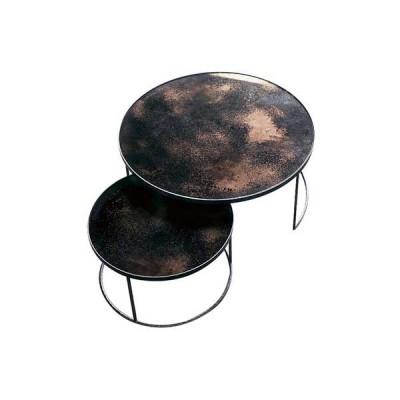 Bronze Copper Nesting coffee table - set of 2