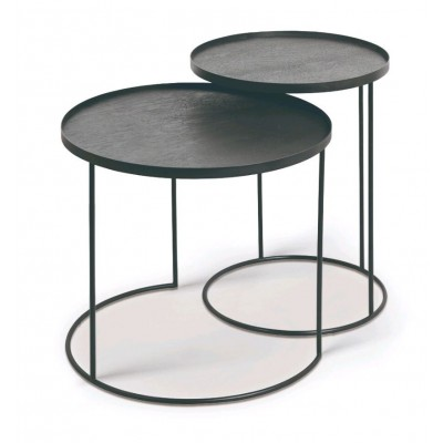 Round tray side table set - S/L (trays not included)