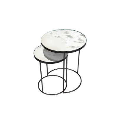 Clear Nesting side table - set of 2