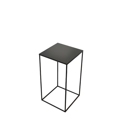 Compact charcoal side table - S