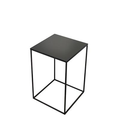 Compact charcoal side table - M