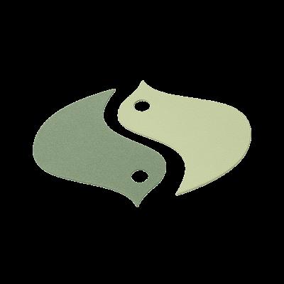 SOUS-PLAT SET DE 2 OISEAUX CACTUS / VERT TILLEUL
