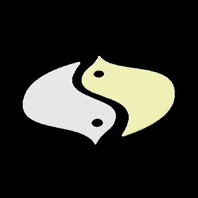 SOUS-PLAT SET DE 2 OISEAUX CITRON GIVRE / BLANC COTON
