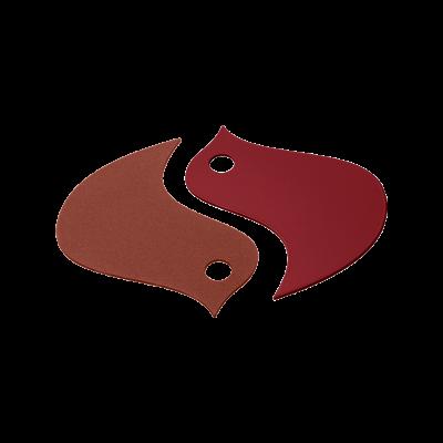 SOUS-PLAT SET DE 2 OISEAUX OCRE ROUGE / PIMENT