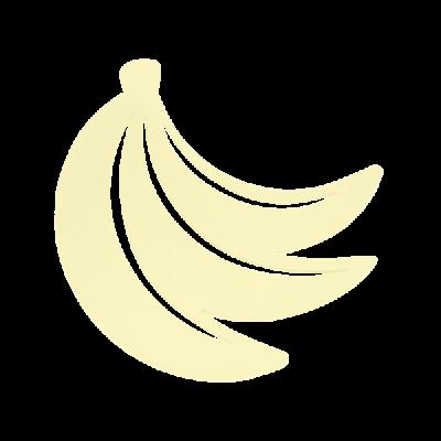 DESSOUS DE PLAT BANANE CITRON GIVRE