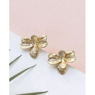 BOUCLES D'OREILLES BEGONIA POST EARRINGS GOLD