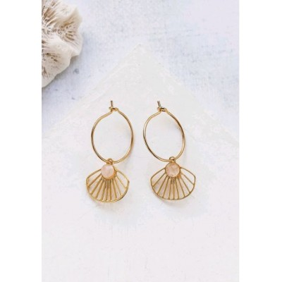 BOUCLES D'OREILLES BELIZE HOOP EARRING GOLD