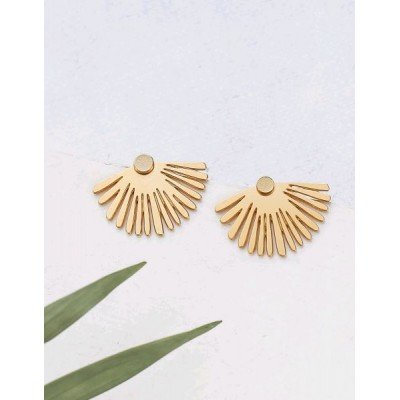 BOUCLES D'OREILLES PALMA EAR JACKETS GOLD