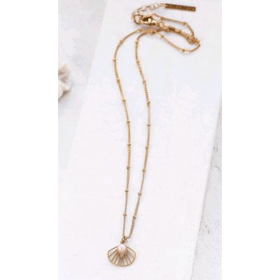 COLLIER BELIZE NECKLACE GOLD PERLE