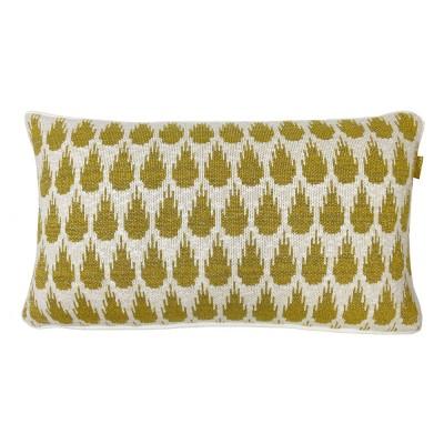 Botanic mini knitted cushion gold