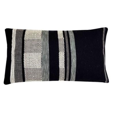 Black texture cushion rectangle