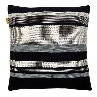 Black texture cushion square