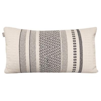 Native stripe cotton offwhite cushion 35x65cm