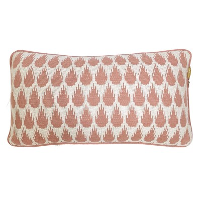 Botanic mini knitted cushion pink