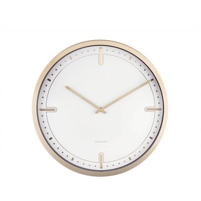 Horloge Dots & Batons blanc