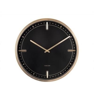 Horloge Dots & Batons noir