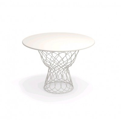 TABLE RE-TROUVE 105CM - BLANC MAT 23