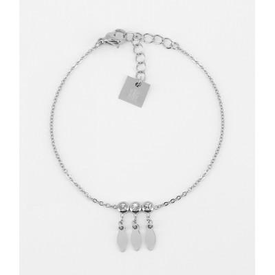 BRACELET - ACIER blanc - steel white - zirconium