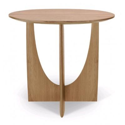Oak Geometric side table - varnished