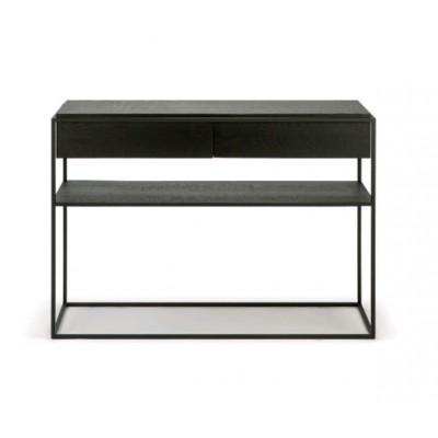 Oak Monolit black console - 2 drawers - black metal -...