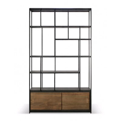 Teak Studio rack - 2 sliding doors