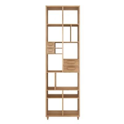 Oak Pirouette book rack - 4 drawers