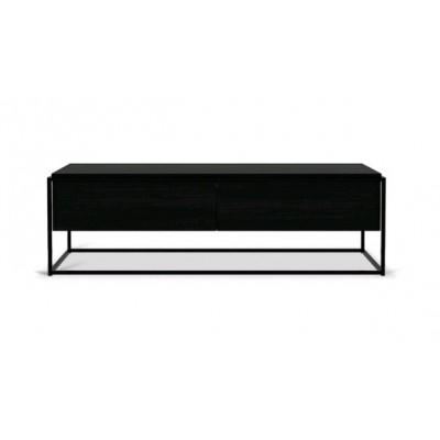 Oak Monolit black TV cupboard - 1 drawer - 1 flip-down...