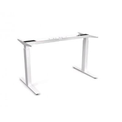 Oak Bok adjustable desk - white frame - EU