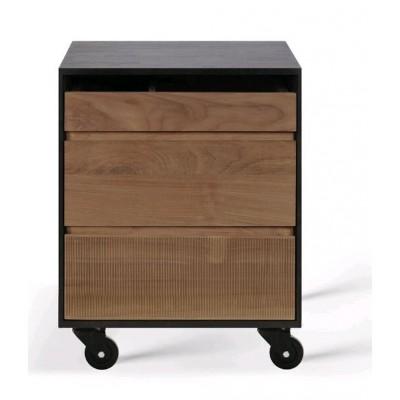 Teak Oscar drawer unit - 3 drawers