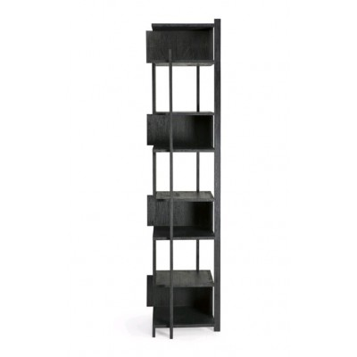 Teak Abstract black column - varnished