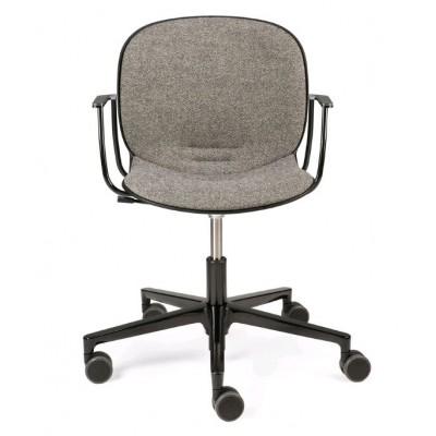 RBM Noor office chair - with armrest - grey