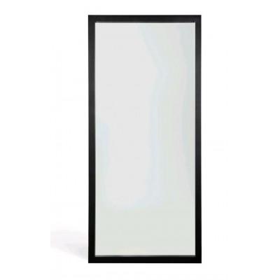 Oak Light Frame black floor mirror - varnished