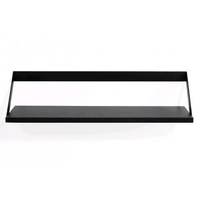Oak Ribbon black shelf - varnished