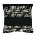 BARK STRIPE COTTON BLACK CUSHION 50X50 CM