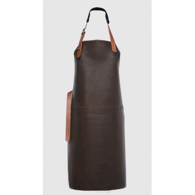 Xapron leather (BBQ) apron Tennessee (L, Brown)